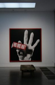 "Barbara Kruger, ""Who owns what?"", Tate modern London"